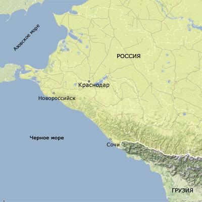 Карта-схема пос. лазаревское